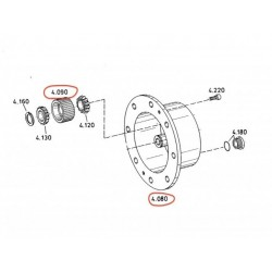 Planetary drive with satellite gear ZF 4475305346